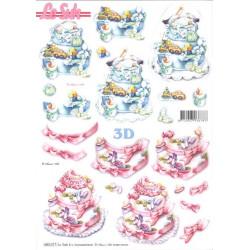 Carterie 3D Prédécoupée - Naissance gateaux