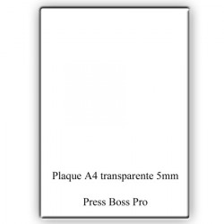 Plaque transparente A4 pour Machine PRESS BOSS PRO