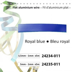 Fil d'aluminium plat 3,5x1mm 5m bleu royal
