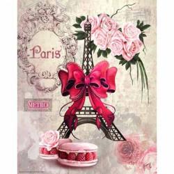 Image pour tableau 3d GK2430087 - 24x30 -  Macarons et Tour Eiffel  -  Aux Bleuets Loisirs créatifs à Reims