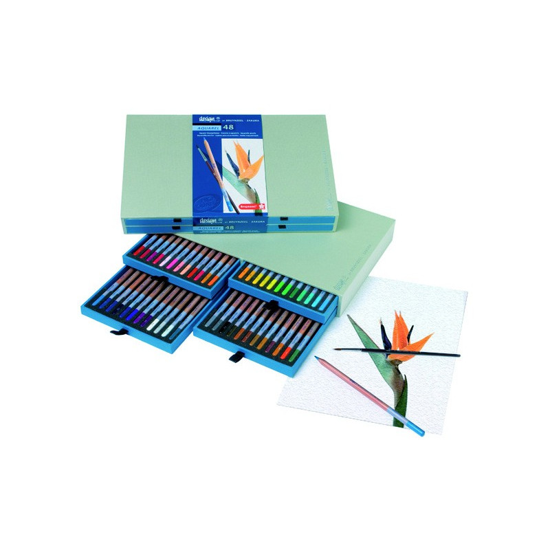 Design set de 48 crayons Aquarelle