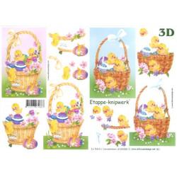 Carte 3D à découper -  paniers de pâques - 4169250