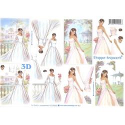 Carterie 3D A4 à découper - Mariage