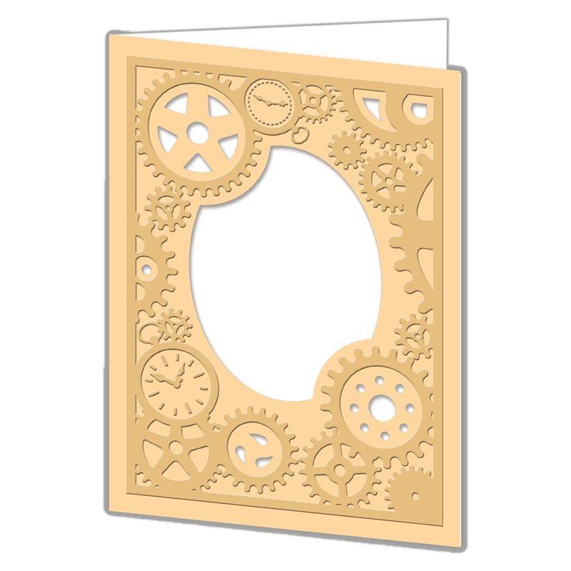 Cut & Emboss Folder -Rouages Steampunk 110 x 150mm
