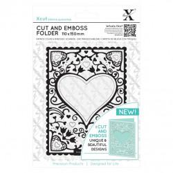 Cut & Emboss Folder - Cadre coeur 110 x 150mm