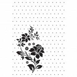 """Classeur d'embossage """"fleur et pois"""" 10,6x15 cm"""