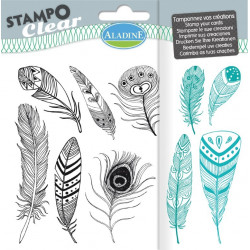 Tampons transparents STAMPO CLEAR PLUMES 04200