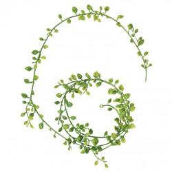 Guirlande de feuilles, 125cm pour mini jardin