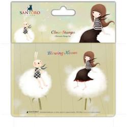 Kori Kumi Tampons format A6 - Fleur de coton
