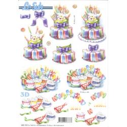 Carte 3D prédéc. - anniversaires  - 680102