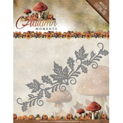 Die - Amy Design - Autumn Moments - Bordure de feuilles 12 x 4 cm.