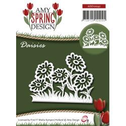 Die - Amy Design - Printemps - Fleurs   7 x 5,3  cm.