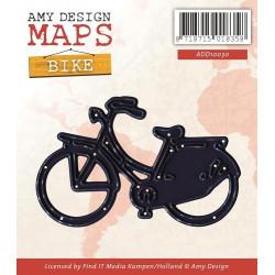 Die - amy design - maps - vélo 6 x 4 cm