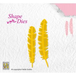 Shape dies - plumes 1,5 x 7 cm et 1,3 x 6 cm