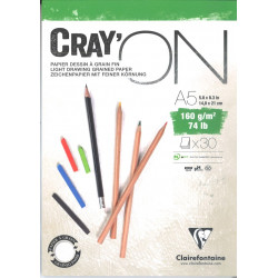 Bloc Cray'On Encollé A5 30F 160g