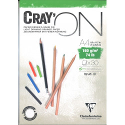 Bloc Cray'On Encollé A4 30F 160g