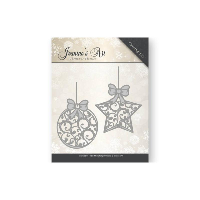 Die - Jeaninnes Art - Boules de Noël 5,2 x 7,4 et 4,6 x 7,5 cm.