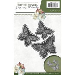 Die - Precious Marieke - Papillons 6,6 x 6,4, 6 x 6 cm, 4,9 x 4,8 mm.