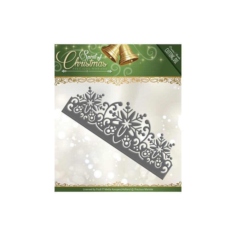 Die - Precious Marieke - Bordure flocon Noël 12,5 x 4,8 cm