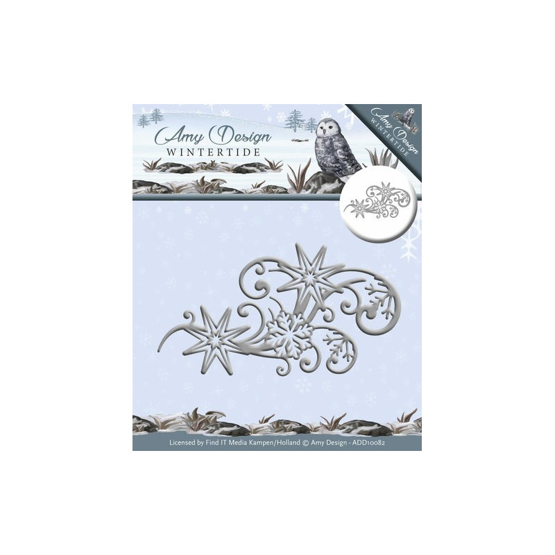 Die - Amy Design - Ice Crystal Swirl 8,5 x 4,5 cm.