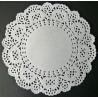 Napperon en papier dentelle - Rond 12,5 cm - 12 pcs
