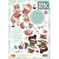 Carte 3D à découper - sky renards