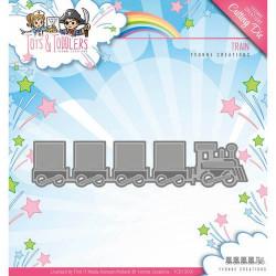 Matrice de découpe Die - Yvonne Creations - Petit Train 12.5 x 3 cm