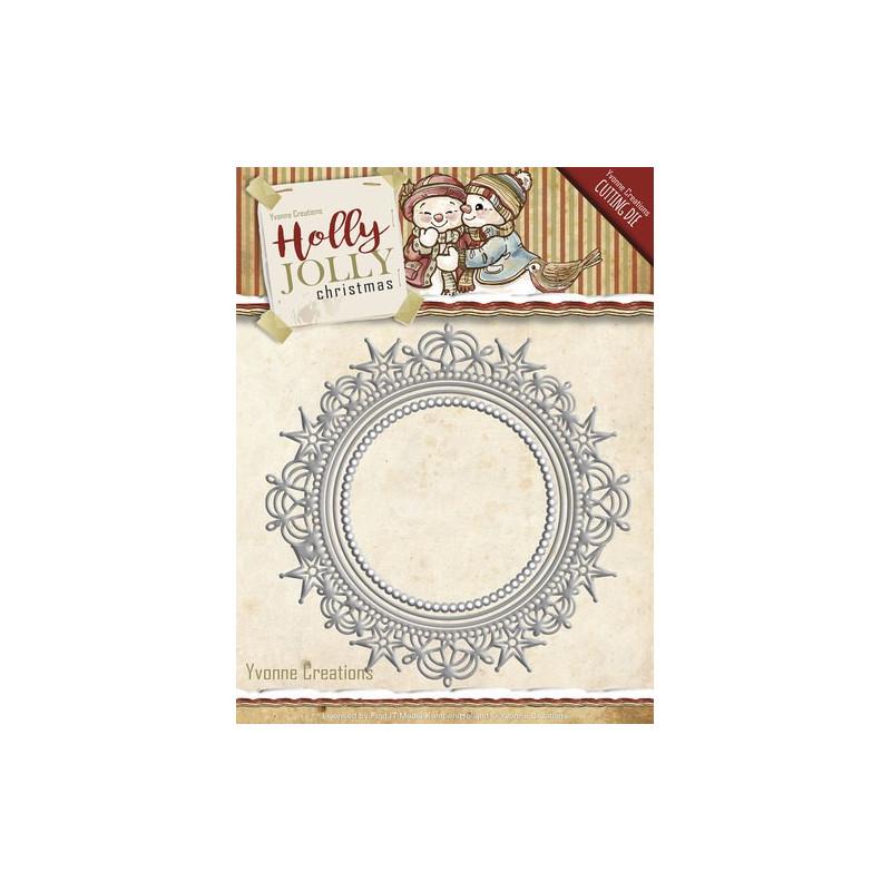 Die - Yvonne Creations - Cadre Noël 12.7 x 12.7 et 7.4 x 7.4 cm