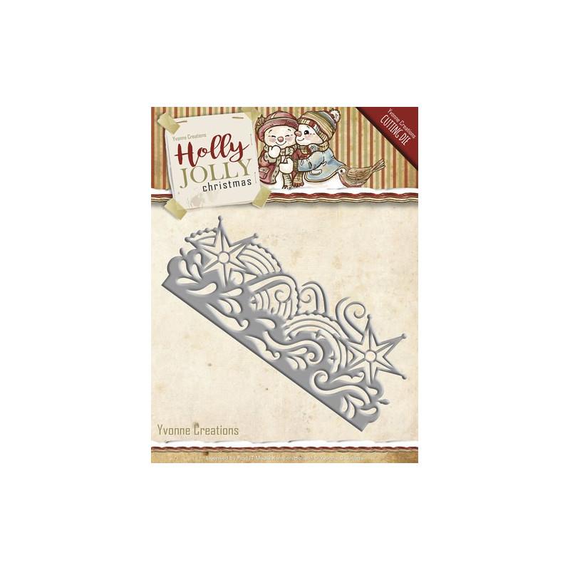 Matrice de découpe Die - Yvonne Creations - Bordure Noël 13.3 x 5.4 cm