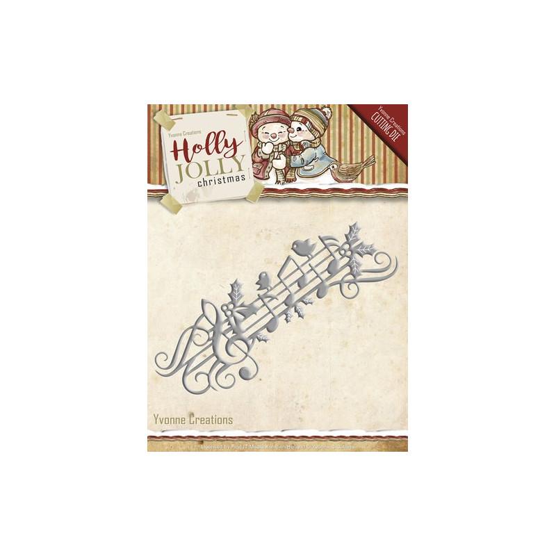 Die - Yvonne Creations - Musique Noël 12.4 x 4.7 cm