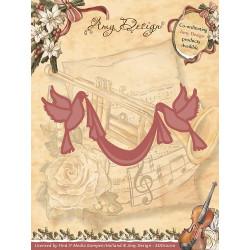 Die - Amy Design - Ruban et colombes 4,8 x 8,8 cm