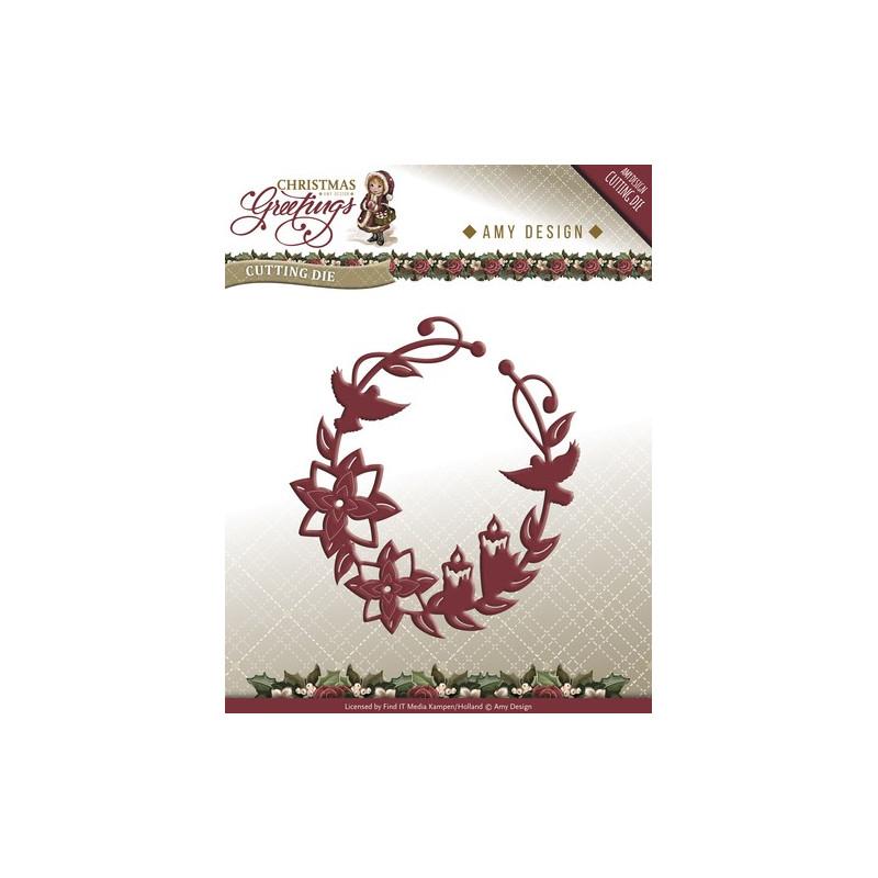 Die - Amy Design - Couronne de Noël 8 x 10 cm.