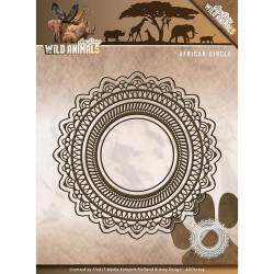 Die - amy design - wild animals - cercles dentelle 5,2 x 5,2 cm, 7,5 x 7,5 cm, 12,1 x 12,1 cm