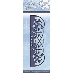 Die - yvonne creations - bordure flocons 13 x 4 cm