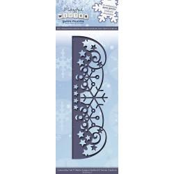 Die - Yvonne Creations - Bordure Flocons 13 x 4 cm