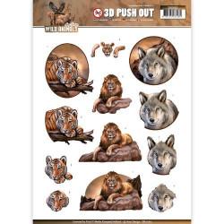 Carterie 3D Prédécoupée -  Amy design - Wild Animals - Animaux sauvages