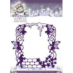Die - yvonne creations - cadre hiver magique 14 x 12.5 cm