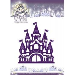 Die - yvonne creations - chateau hiver magique 6.8 x 7.7 cm