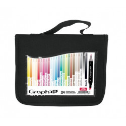 GRAPH'IT TROUSSE DE 24 MARQUEURS - BASIC COLORS