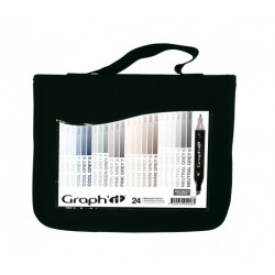 GRAPH'IT TROUSSE DE 24 COULEURS - MIX GREYS