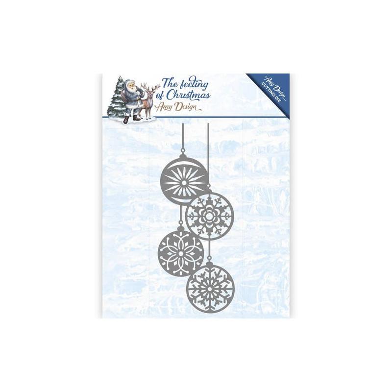 Die - Amy Design - Boules de Noël 4.9 x 12.2 cm.