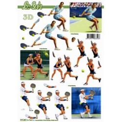 Carte 3D à découper -  tennis