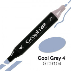 GRAPH'IT Marqueur à alcool 9104 - Cool Grey 4