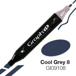 GRAPH'IT Marqueur à alcool 9108 - Cool Grey 8