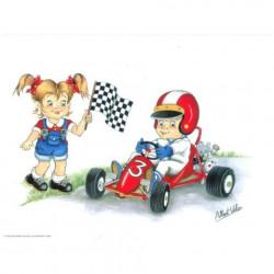 Image pour tableaux 3D - VENEZIA 281 - 24X30  - Enfants Karting -  Aux Bleuets Loisirs créatifs à Reims