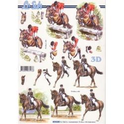 Carte 3D à découper -  chevaux