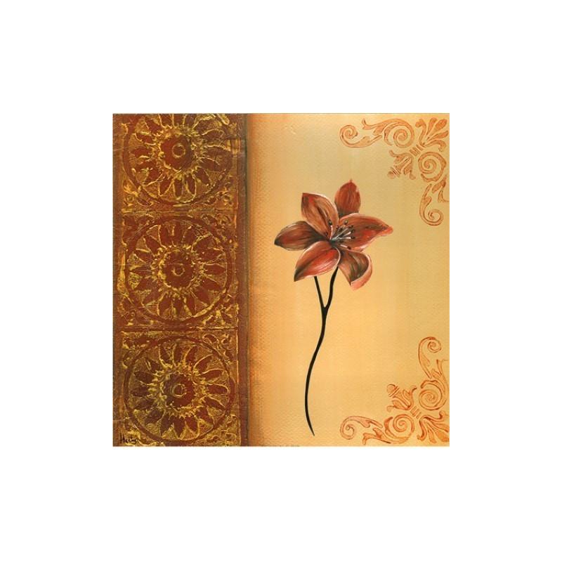 Image 3D - 0900485 - 30x30 - Fleur rouge droit
