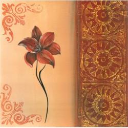 Image 3D - 0900486 - 30x30 - fleur rouge gauche
