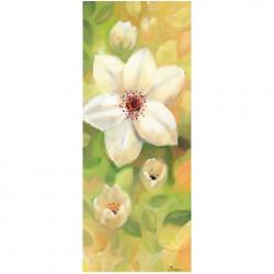 Image 3D - 1000806 - 20x50 - fleur blanche fond jaune