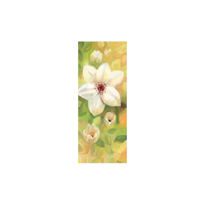 Image 3D 1000806 - 20X50 - FLEUR BLANCHE fond jaune
